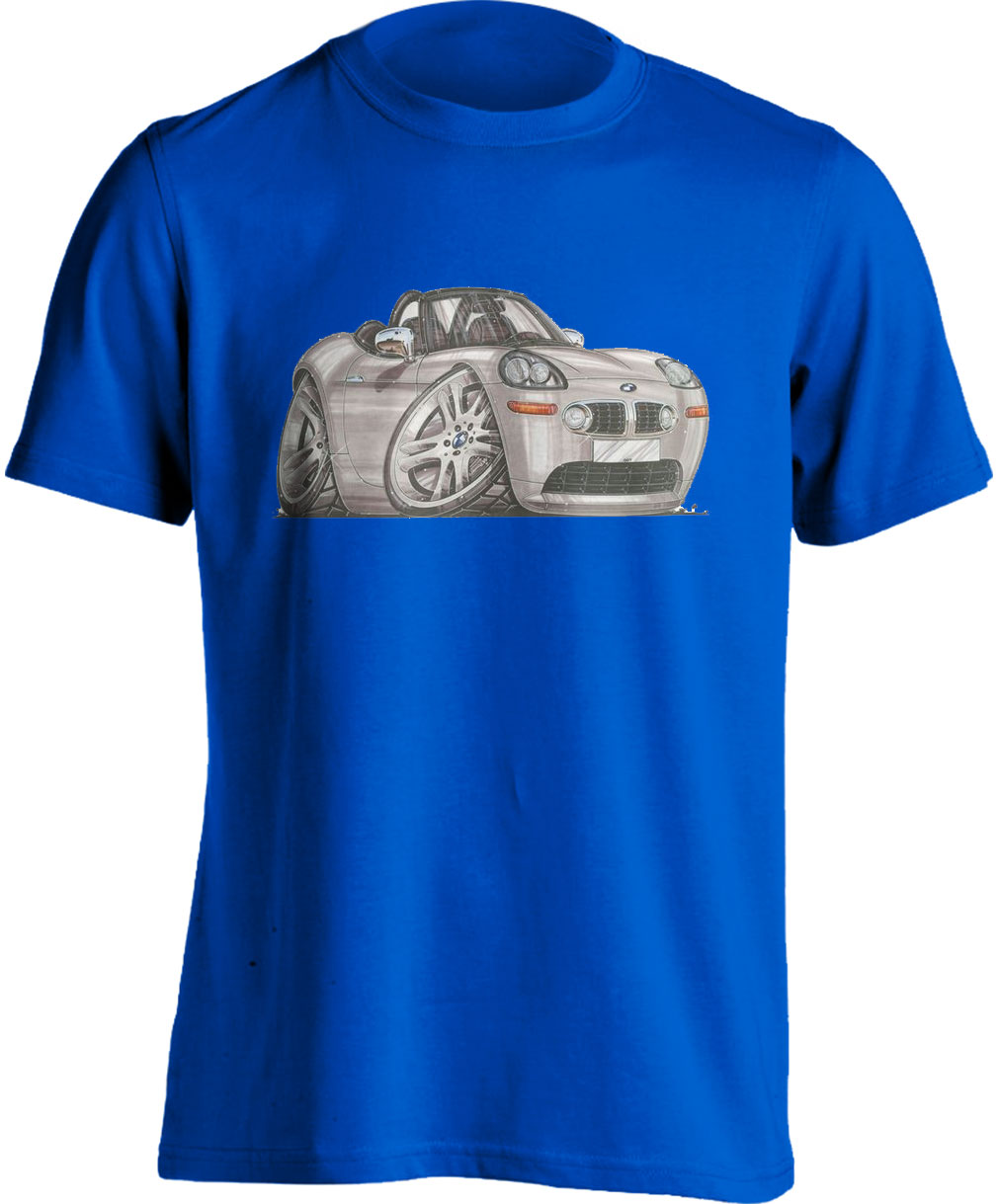 Koolart BMW Z8 Silver-1072 Adults Unisex Kartoon T Shirt