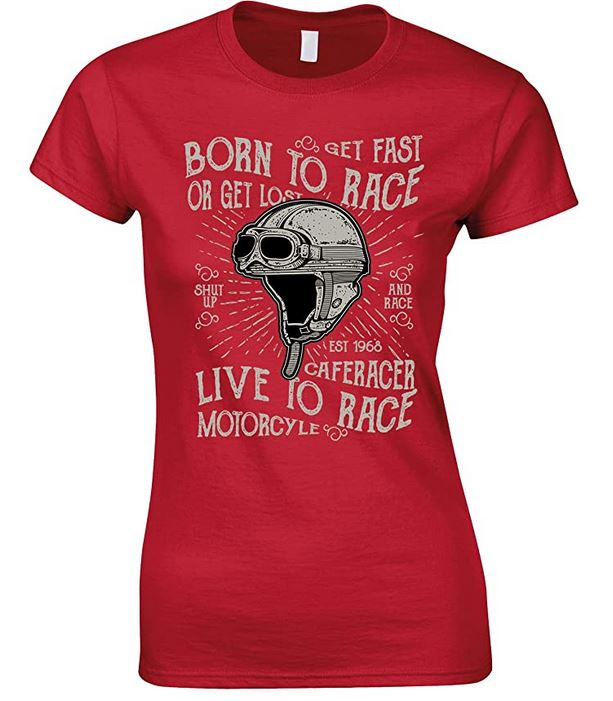 Ladies Born to Race- Live to Race- Printed T Shirt