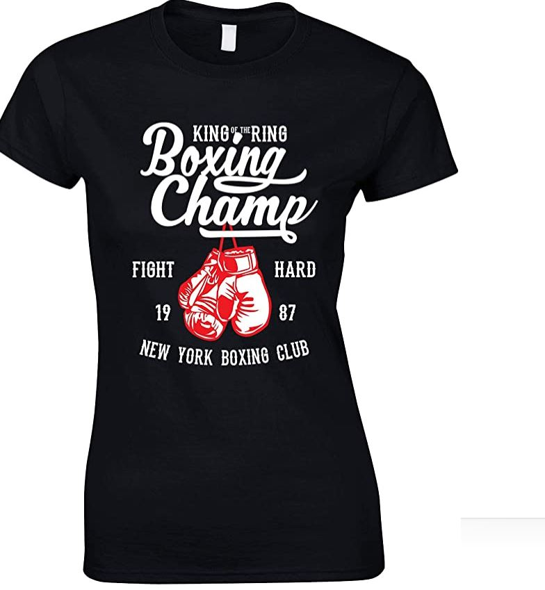 King of The Ring - Boxing Champ-Ladies T Shirt