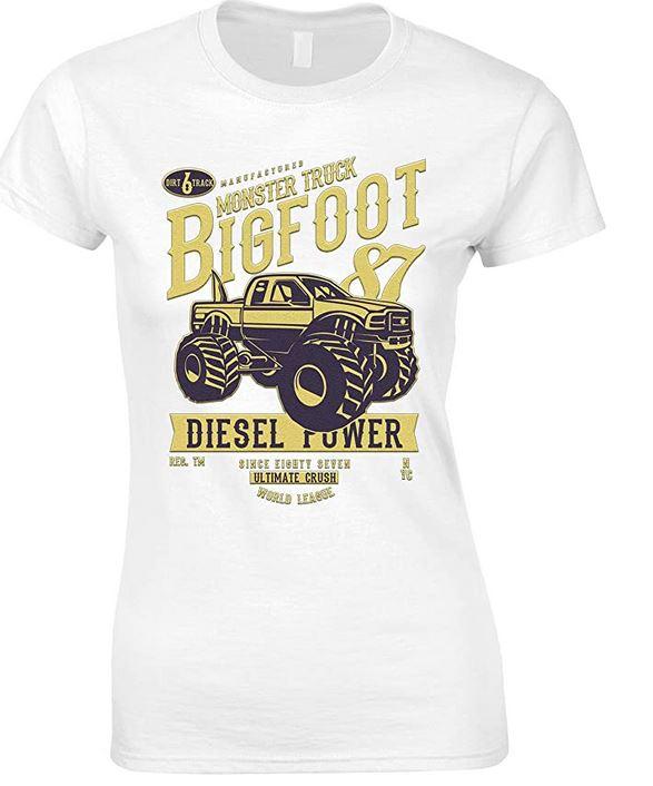 Monster Truck Big Foot-Vehicle-Ladies-T Shirt