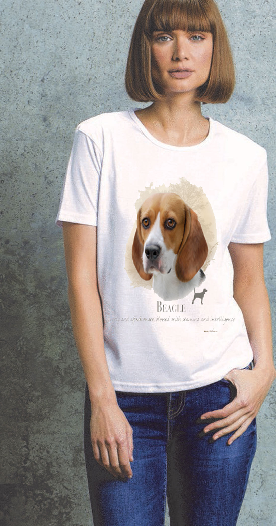 Ladies Beagle T Shirt