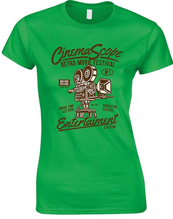 Cinema Scope- Retro Movie Festival- Entertainment System- Ladies Fun T Shirt