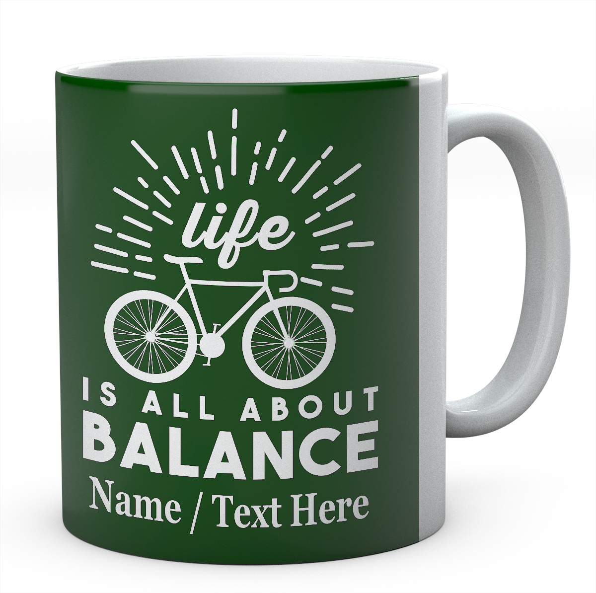 Life is All About Balance - Cycling Bike Mug