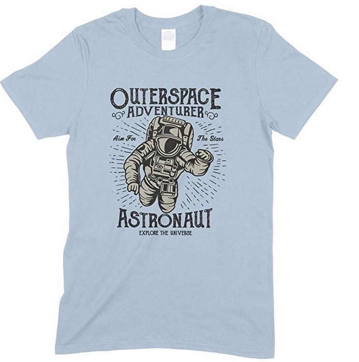 Outerspace Adventurer Astronaut Explore - Unisex - Child's T Shirt Boy/Girl