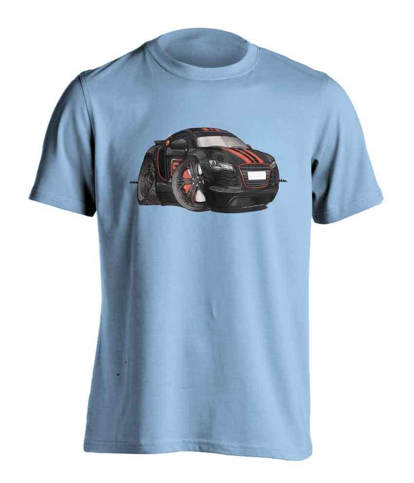 Adults Koolart Audi R8 Black/Red 3346 T Shirt