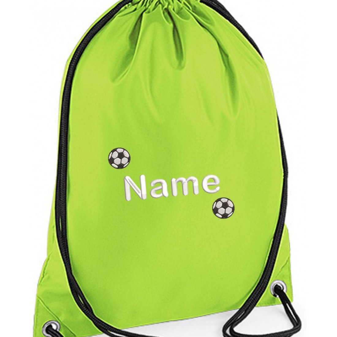 Unisex Personalised Football Drawstring Gym Bag (2 small footballs)
