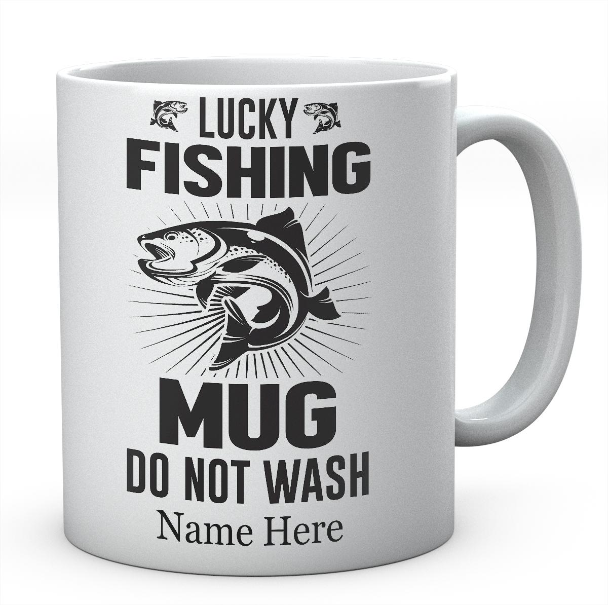 Lucky Fishing Mug, Do Not Wash