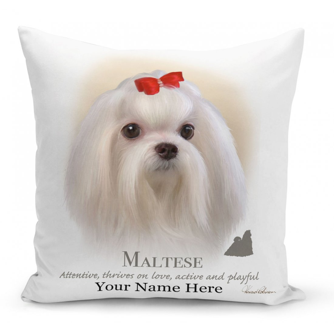 Maltese Dog Cushion