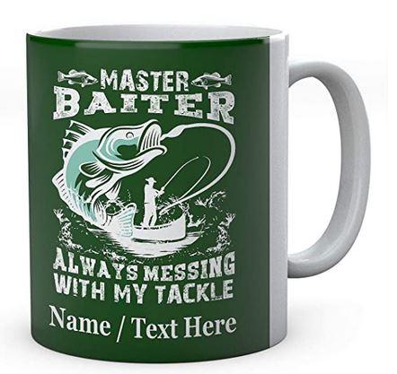 Master Baiter Always Messing with My Tackle - Fishermen's Personalised Ceramic Mug
