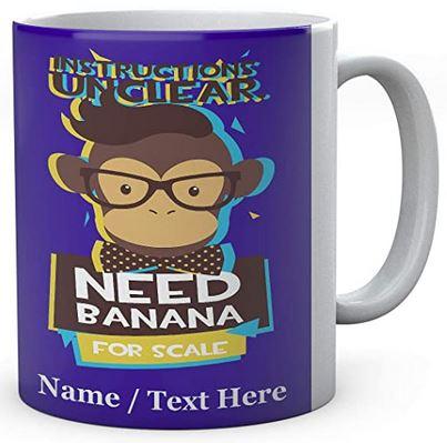 Monkey Needs Banana -Personalised- Ceramic-Mug