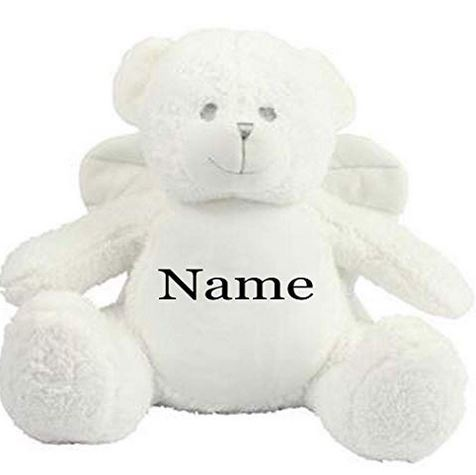 Mumbles Personalised Embroidered Angel Teddy Bear