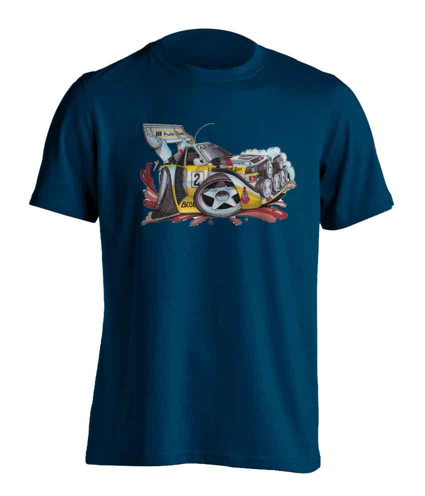 Adults Koolart Audi Quattro Rally 0033 Car T Shirt