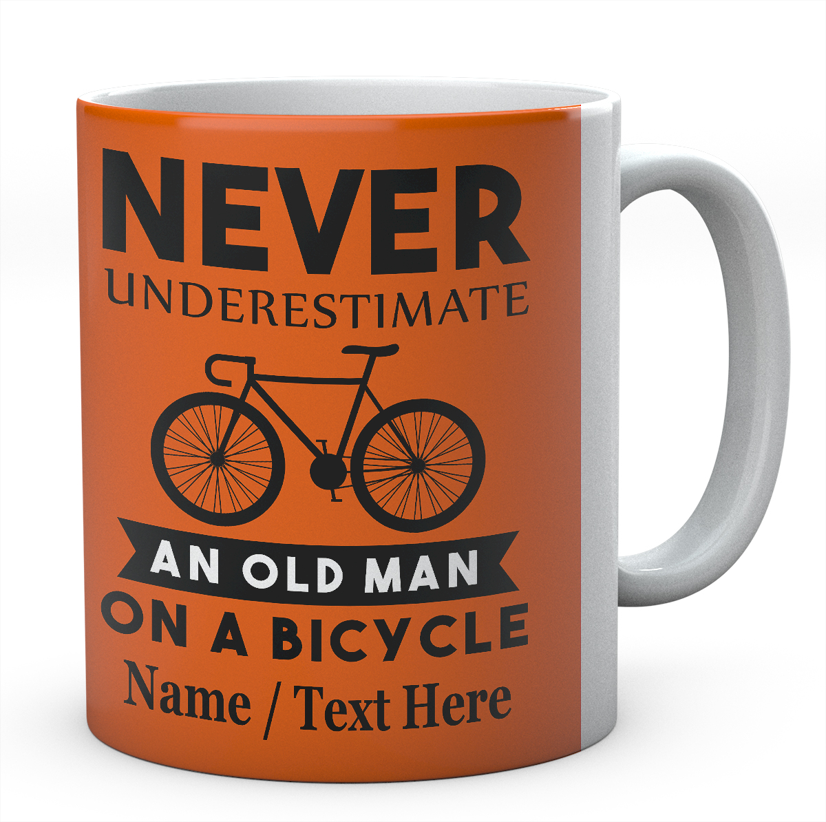 Never Underestimate an Old Man On A Bicycle - Cycling Mug