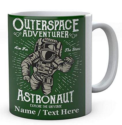 Outerspace Adventurer- Aim for The Stars -Astronaut Explore The Universe - Mug - Ceramic