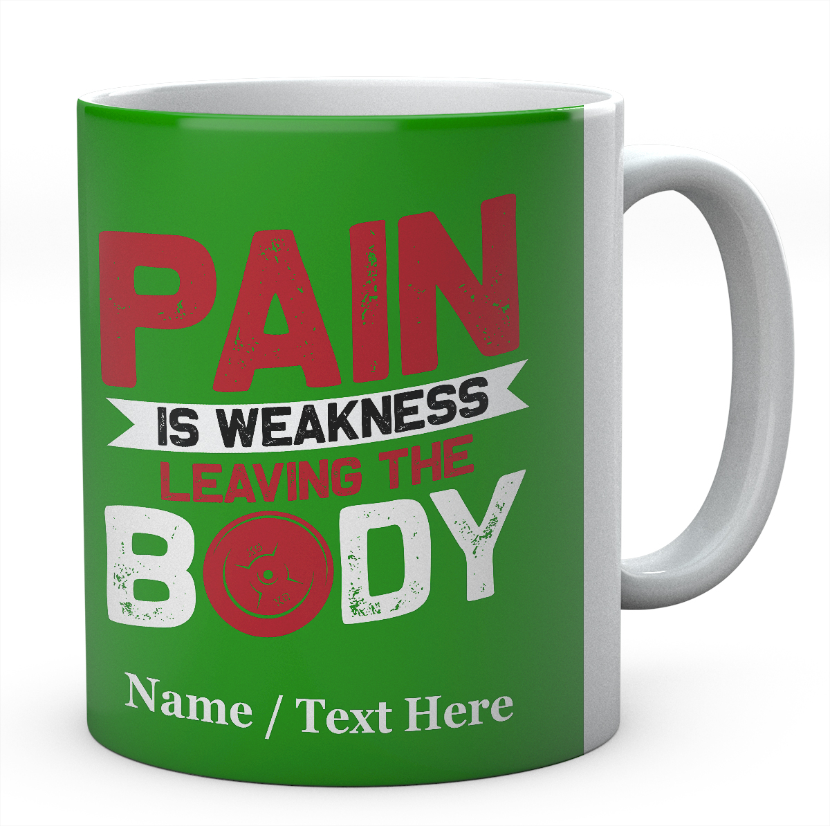 Pain is Weakness Leaving The Body-Personalised Mug