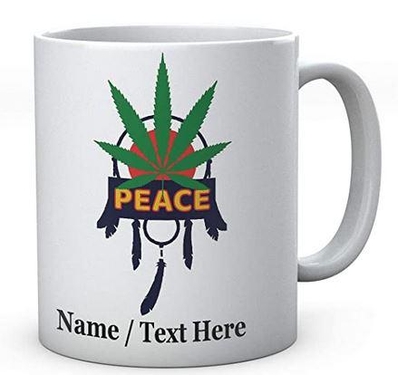 Peace Dreamcatcher Weed Personalised Mug