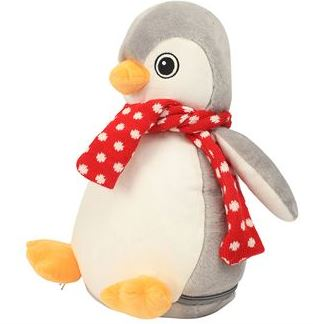 Personalised Embroidered Penguin Teddy Bear (Birth Block)