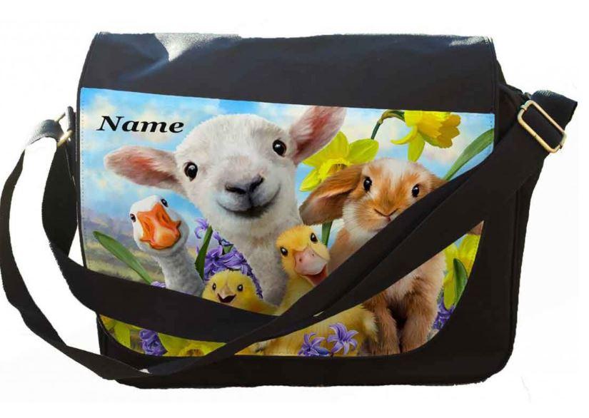 Personalised  Easter Selfie  Messenger/Reporters Bag