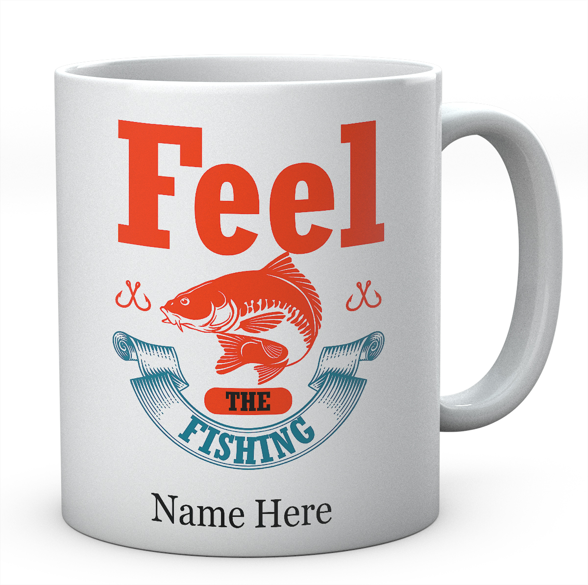 Personalised :Feel The Fishing-Mug