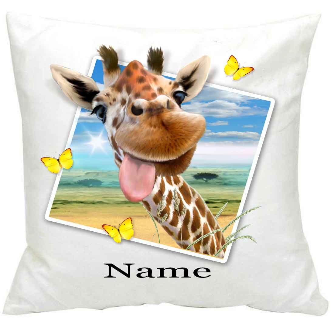 PersonalisedGiraffe Selfie Printed Cushion