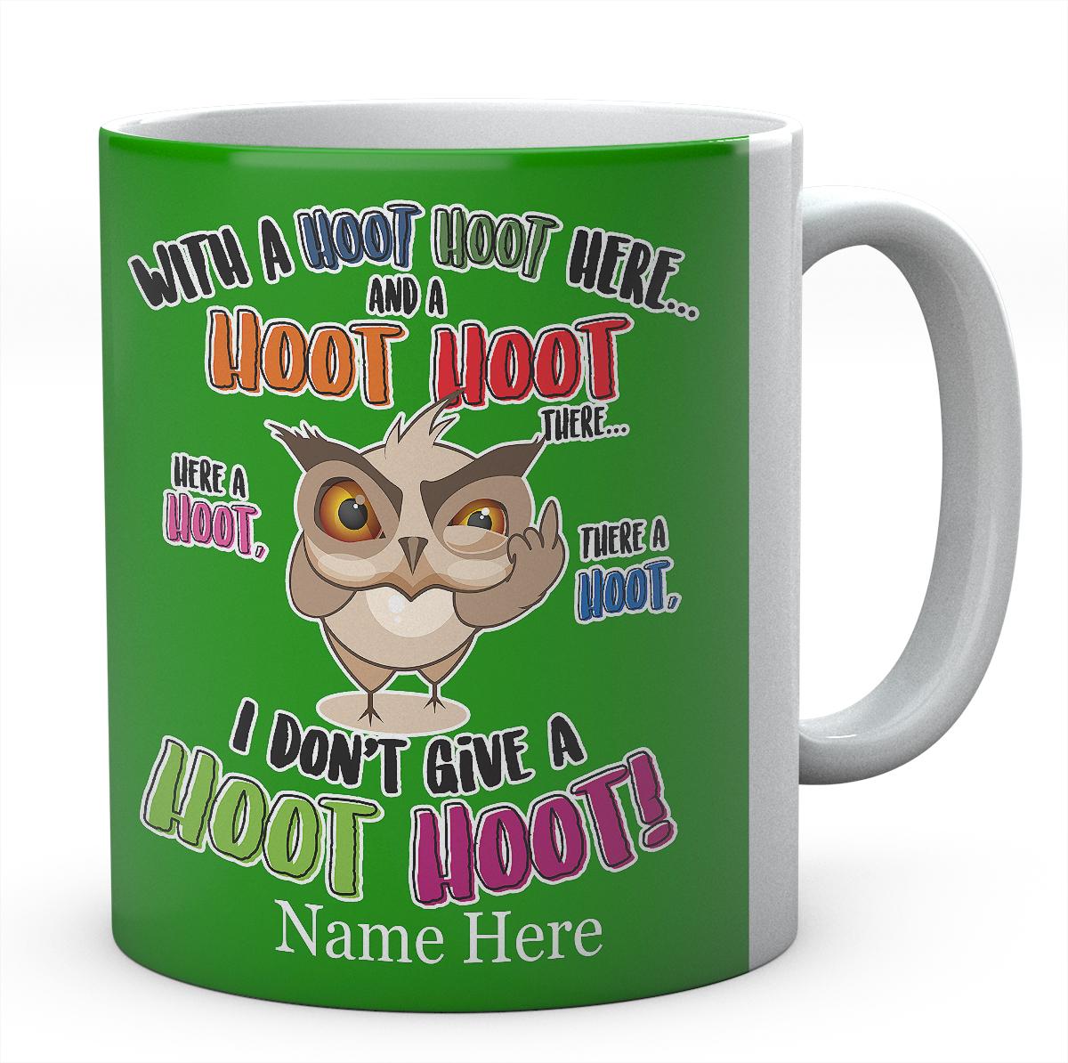 Personalised  Hoot Hoot There Owl Mug