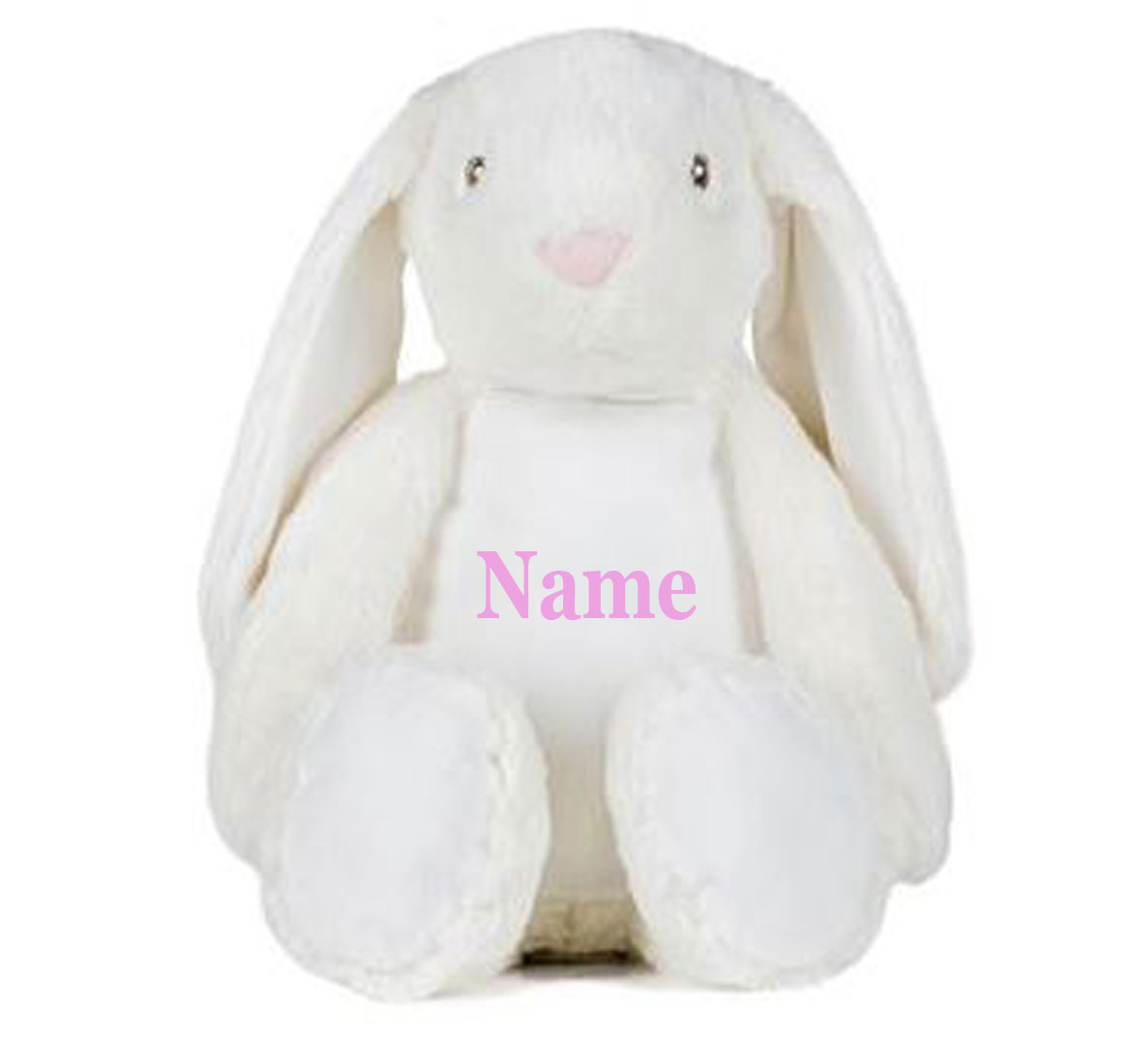 Personalised  Mumbles Embroidered White Rabbit Teddy Bear