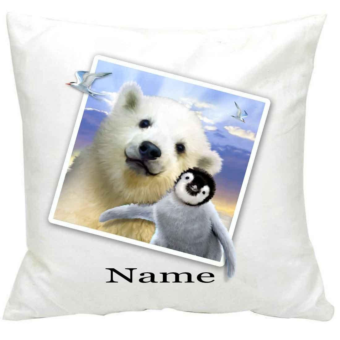 PersonalisedPolar Pals Selfie Printed Cushion