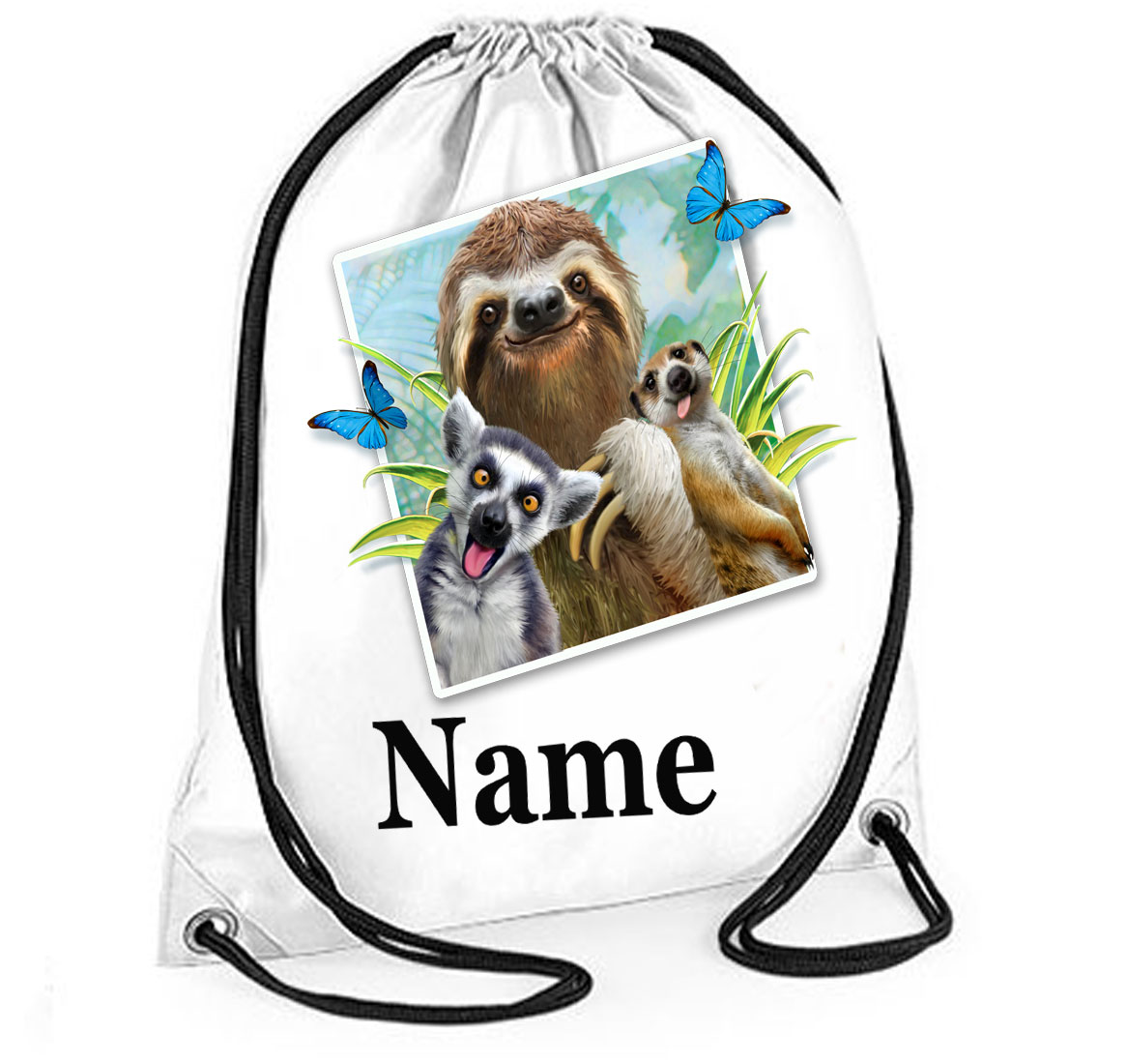 Personalised Sloth Selfie Gym Bag