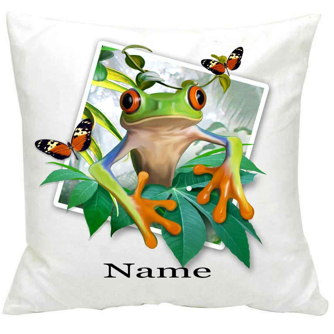 PersonalisedTree- Frog Selfie Printed Cushion