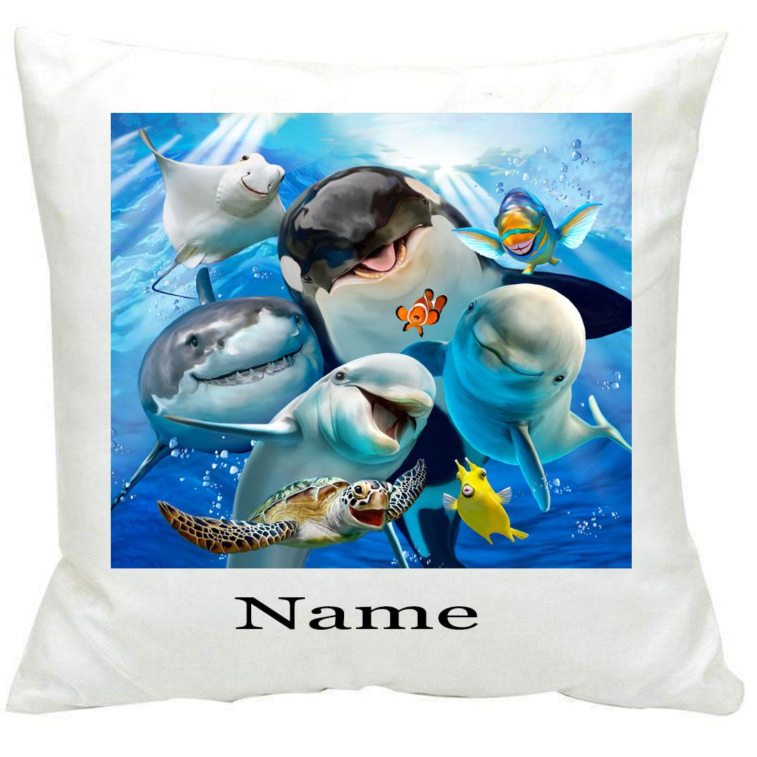 Personalised 884 Ocean Selfie Printed Cushion
