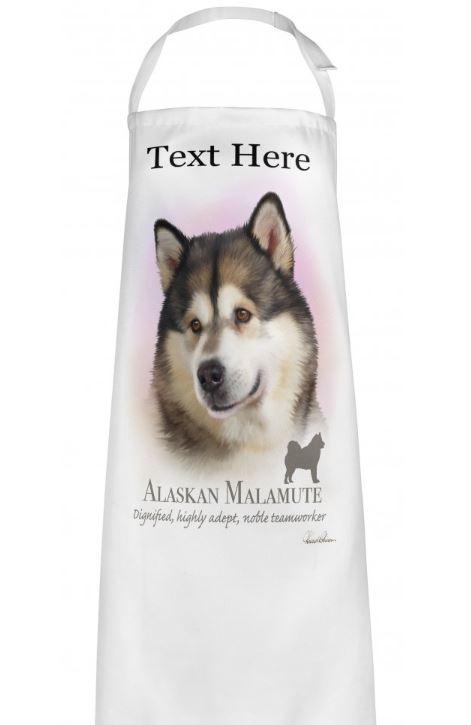 Personalised Alaskan Malamute Dog Apron