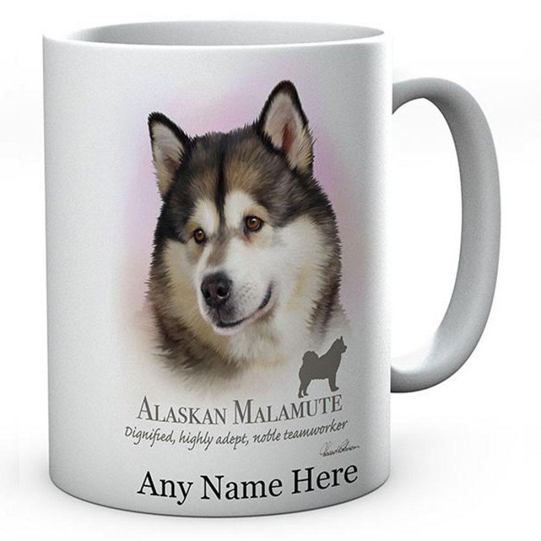 Personalised Alaskan Malamute Dog Mug