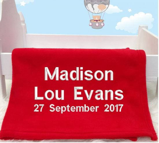 Personalised Any Name Baby Blanket