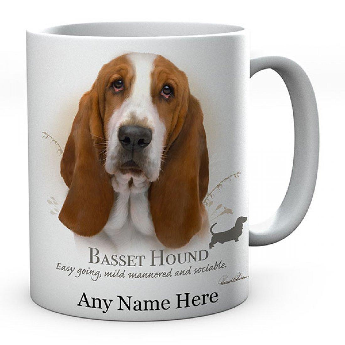 Personalised Basset Hound Dog Mug