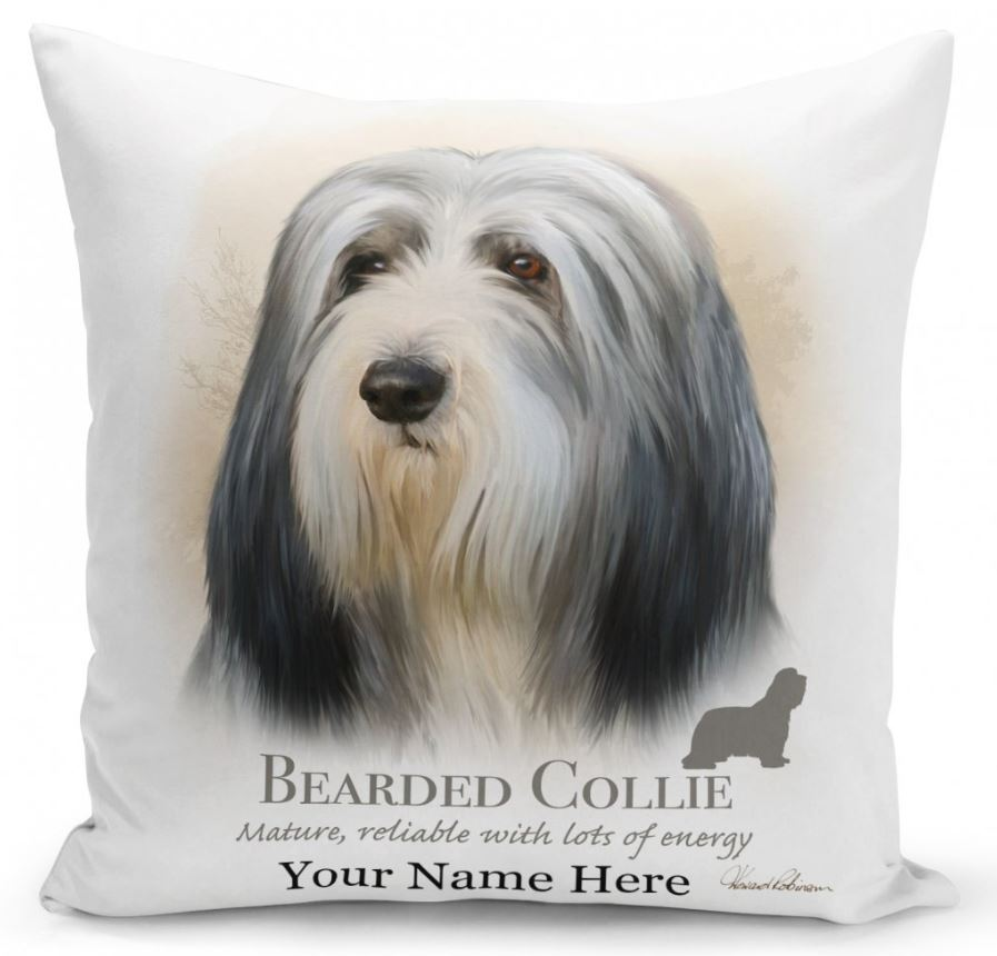 Personalised Bearded Collie Cushion