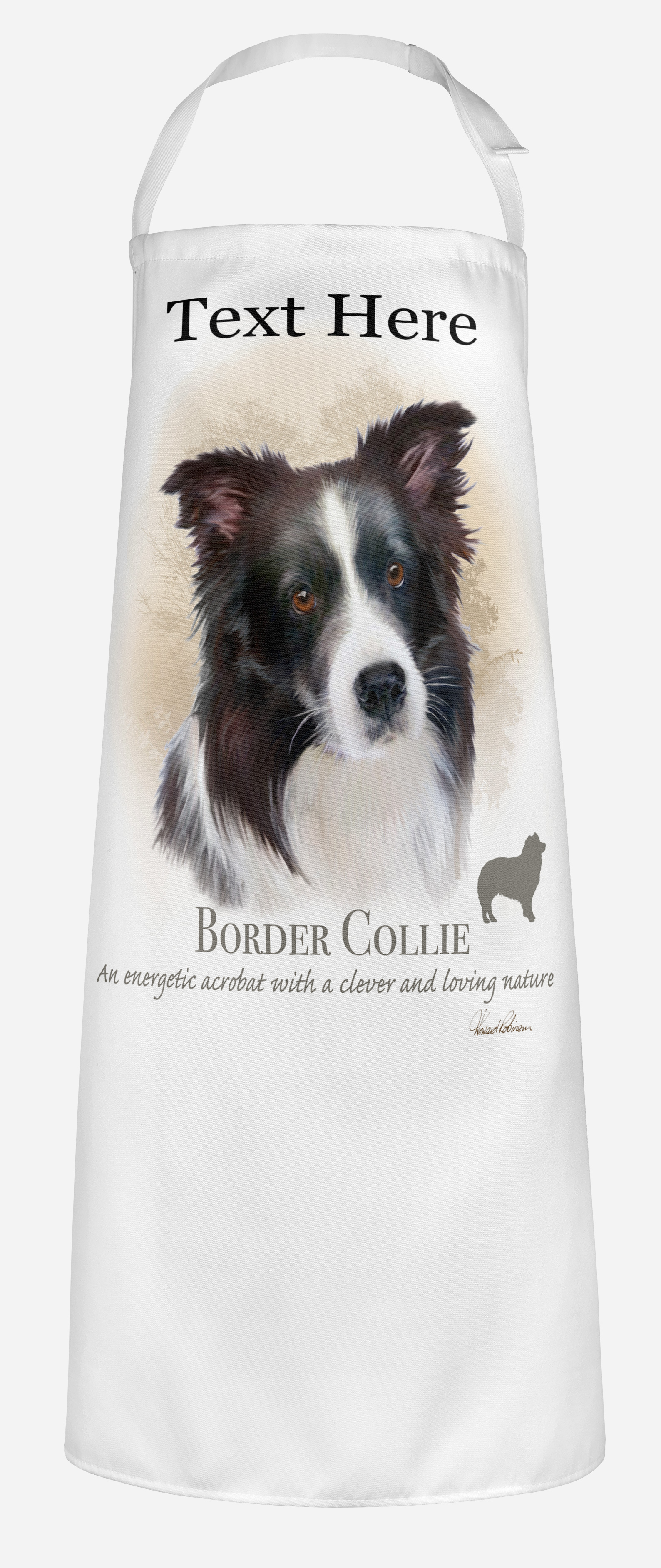 Personalised Border Collie Dog Apron