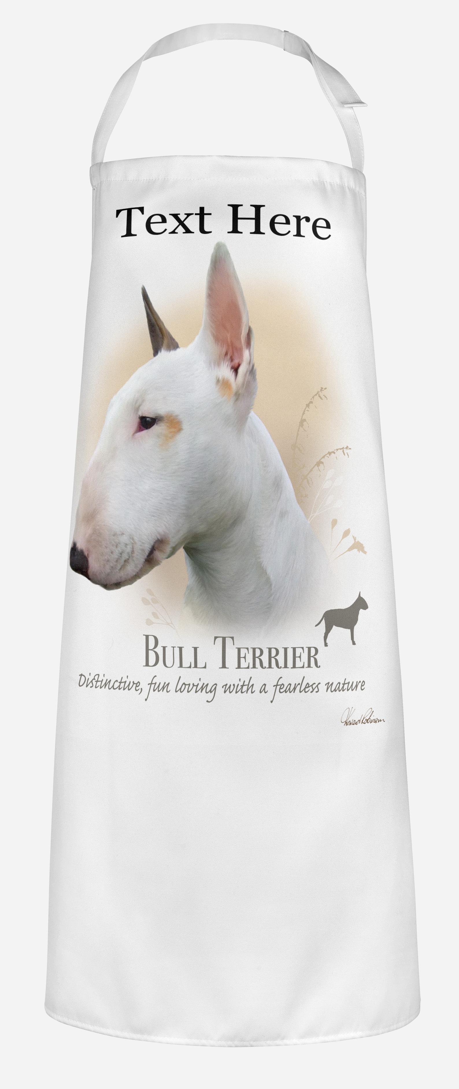 Personalised Bull Terrier Dog Apron