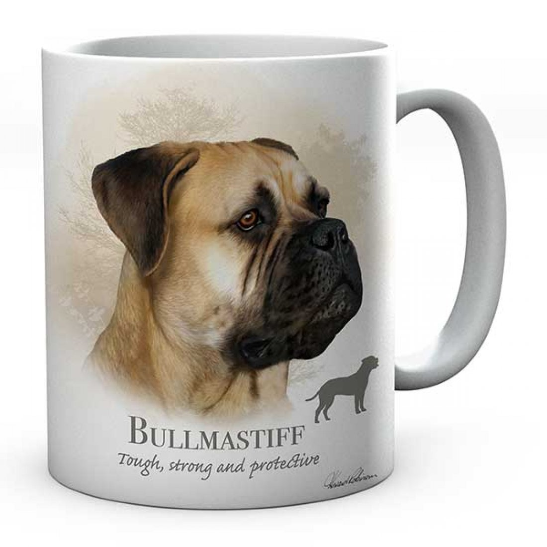 Personalised Bullmastiff Dog Mug
