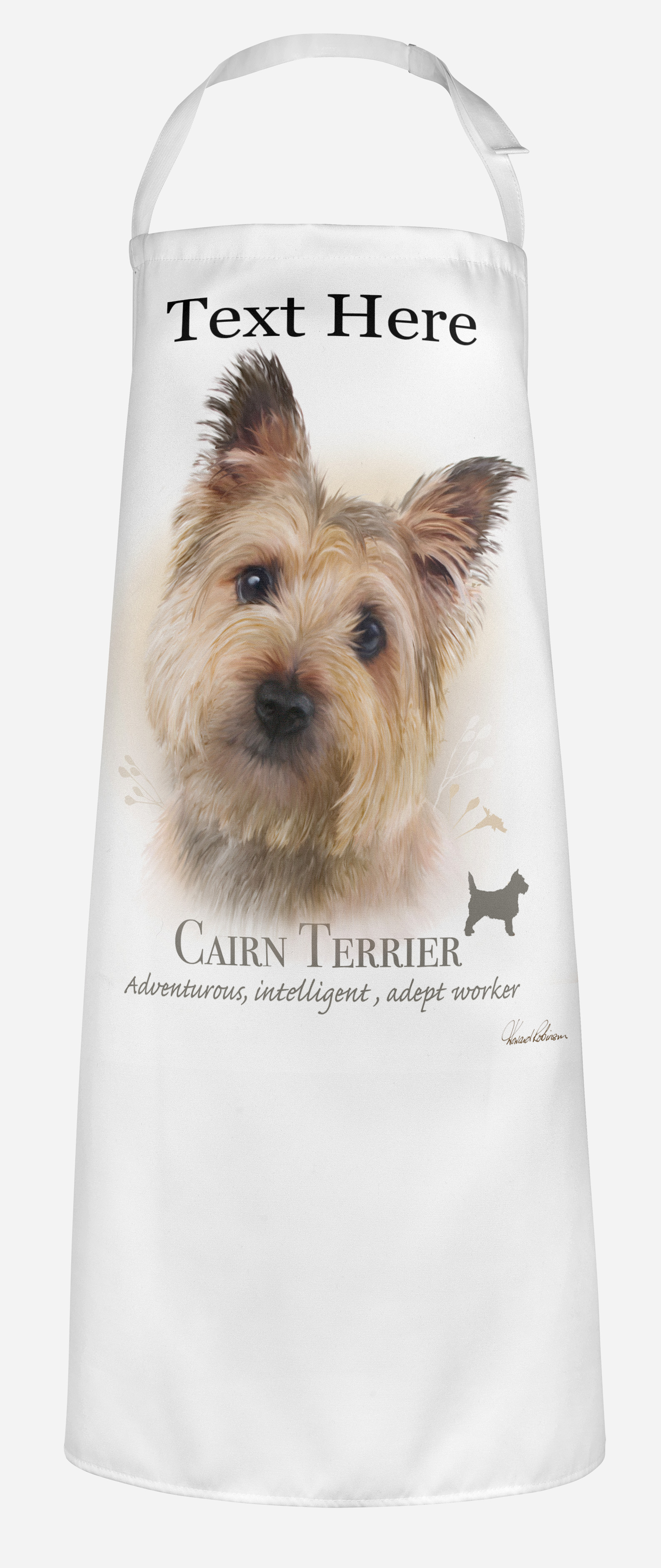 Personalised Cairn Terrier Dog Apron