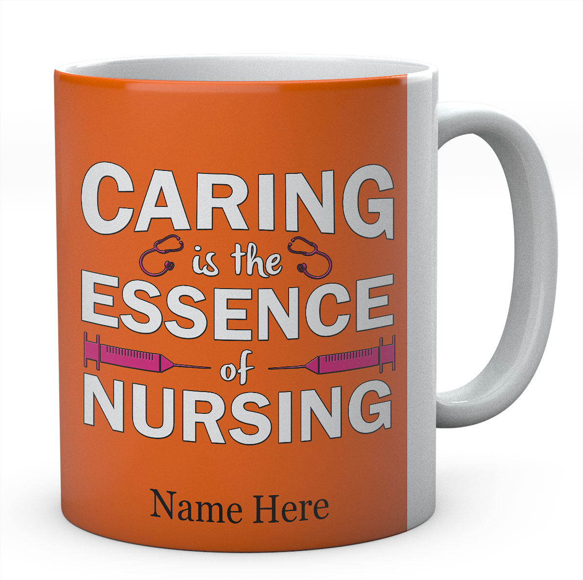 Personalised Caring Is The Essence Of Nursing Mug