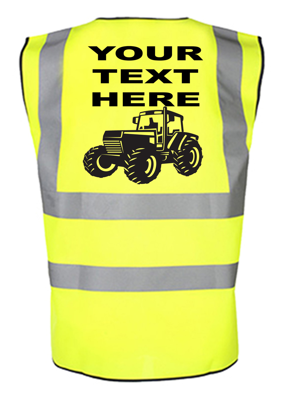 Personalised Children's Tractor Hi Visibility Reflective Vest