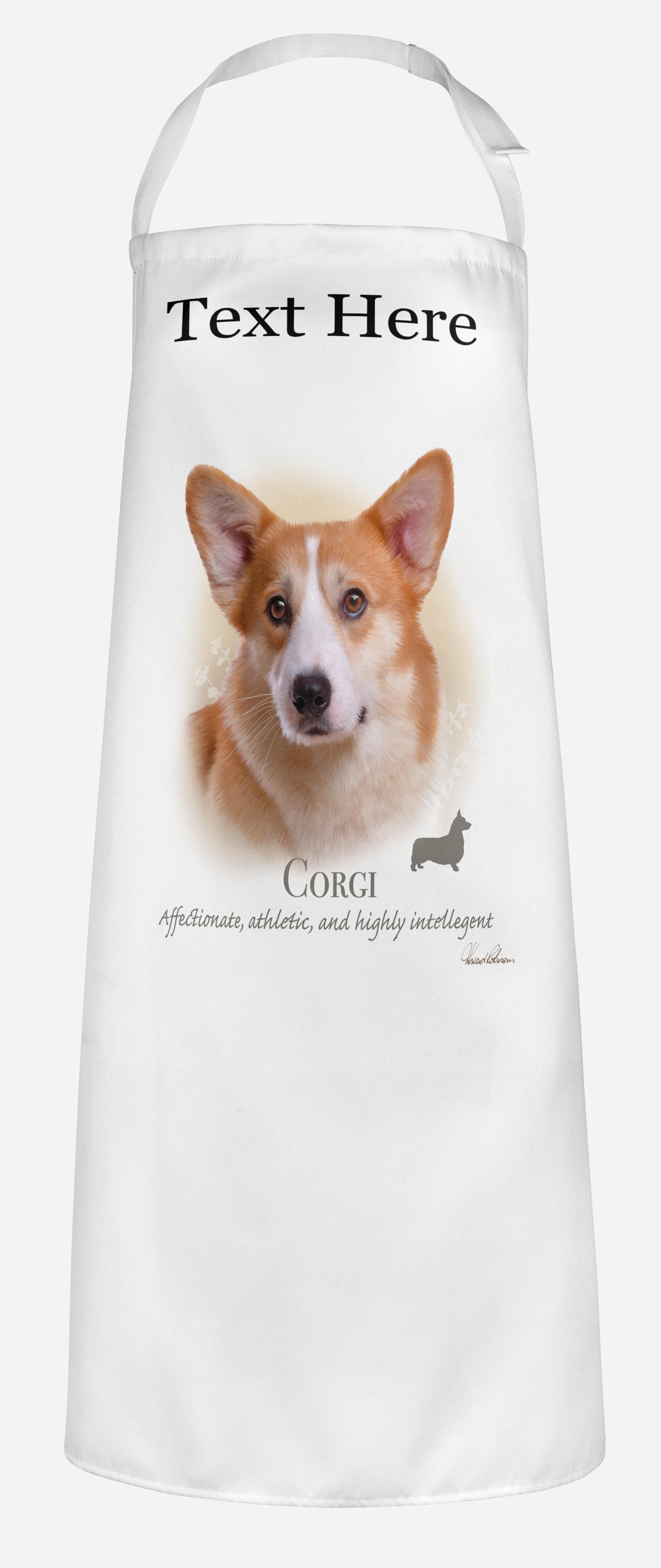 Personalised Corgi Dog Apron