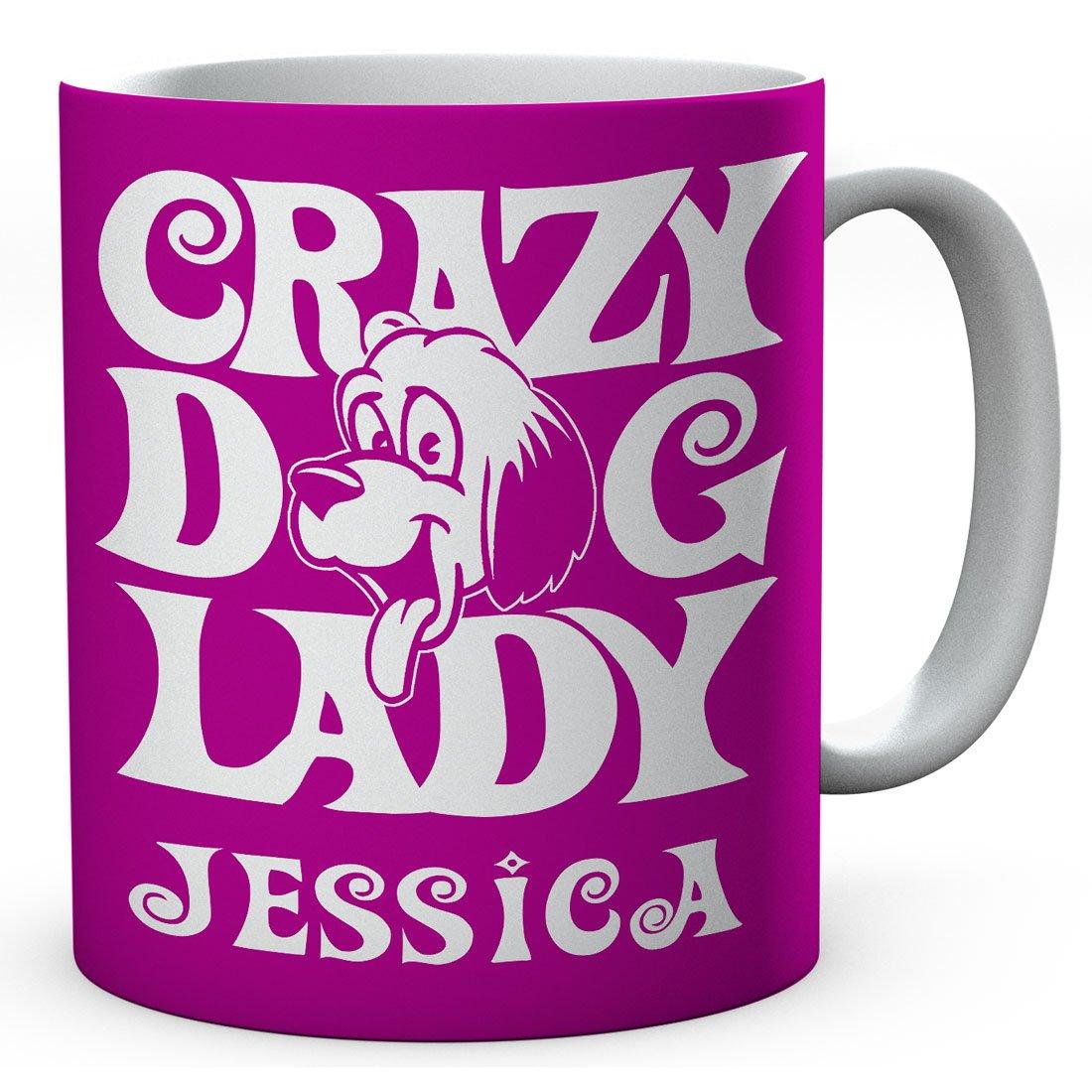 Personalised Crazy Dog Lady Ceramic Printed Mug