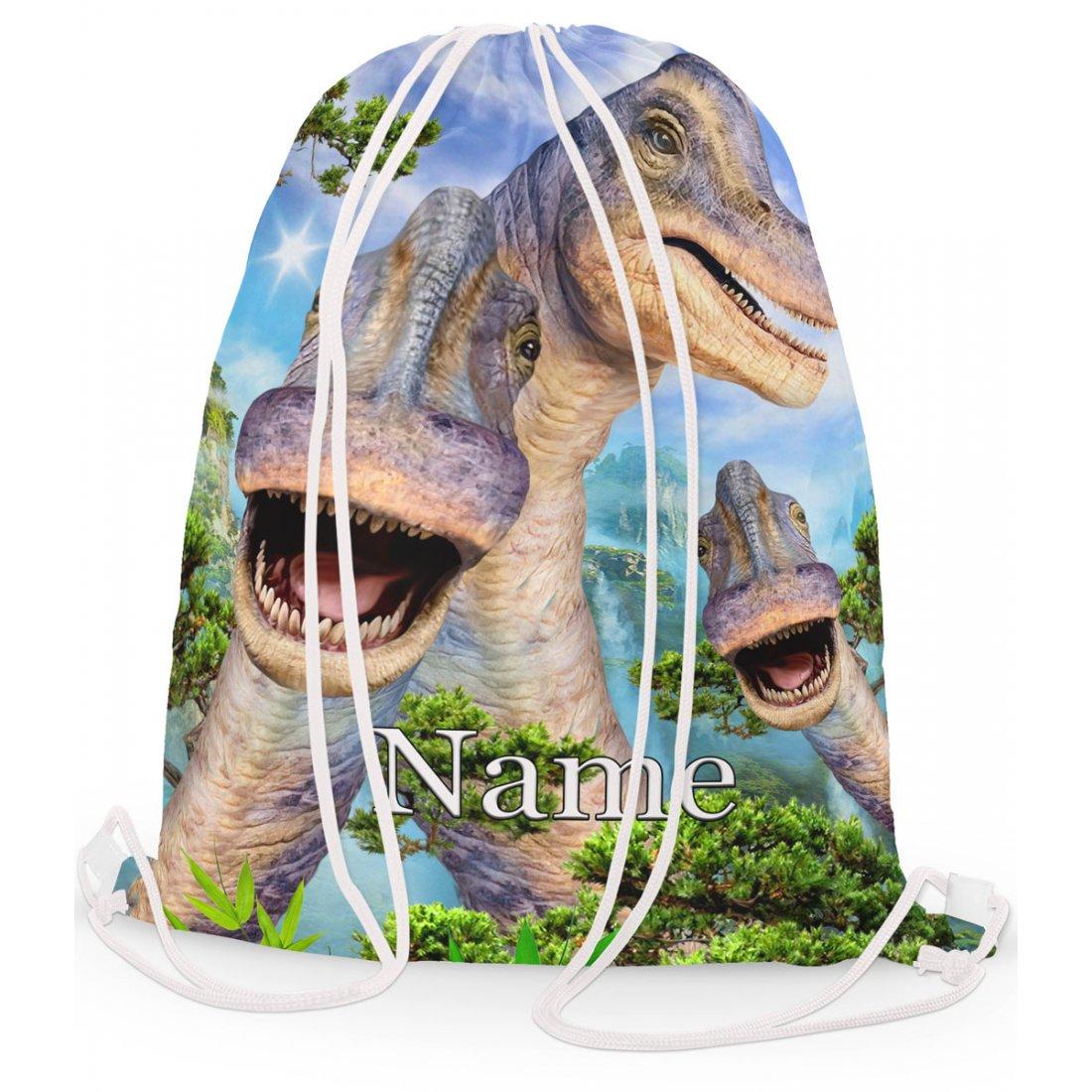 Personalised Dino brachiosaurus Gym Bag