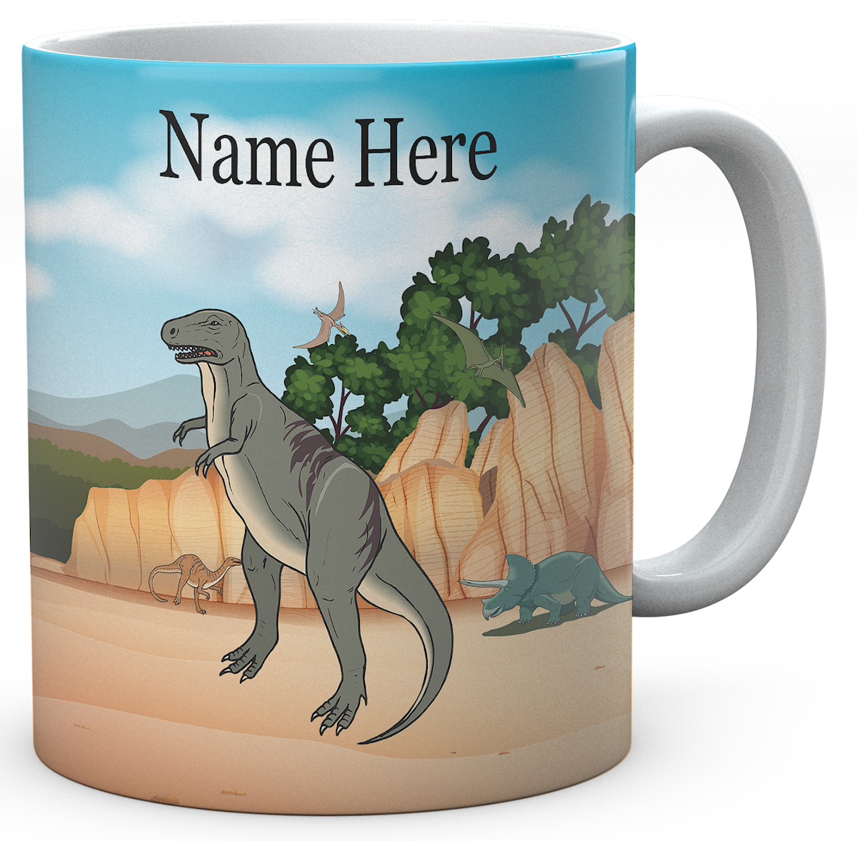 Personalised Dinosaur Ceramic Mug