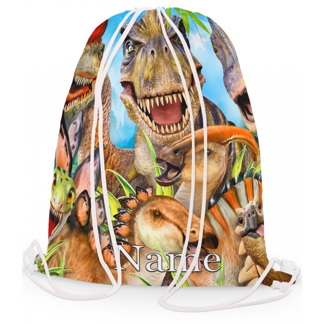 Personalised Dinosaur Selfie 2 Gym Bag