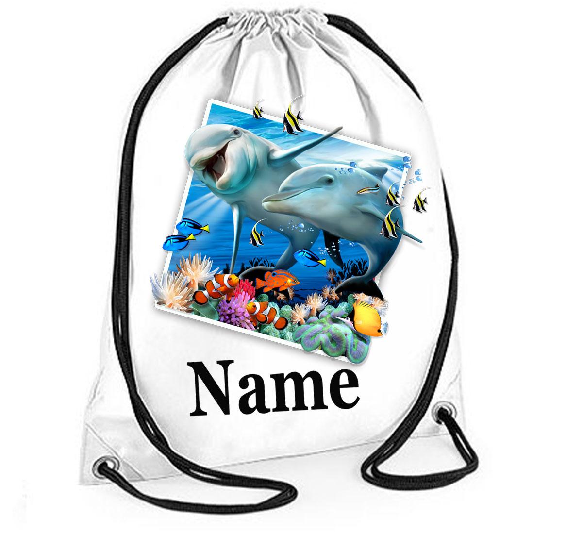 Personalised Dolphins Selfie Gym Bag