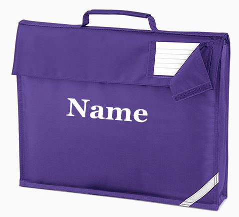 Personalised Embroidered Any Name Junior Book Bag(QD051 )