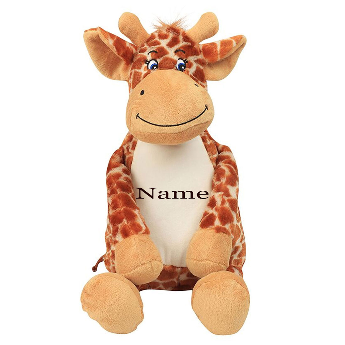 Personalised Embroidered Giraffe Teddy Bear