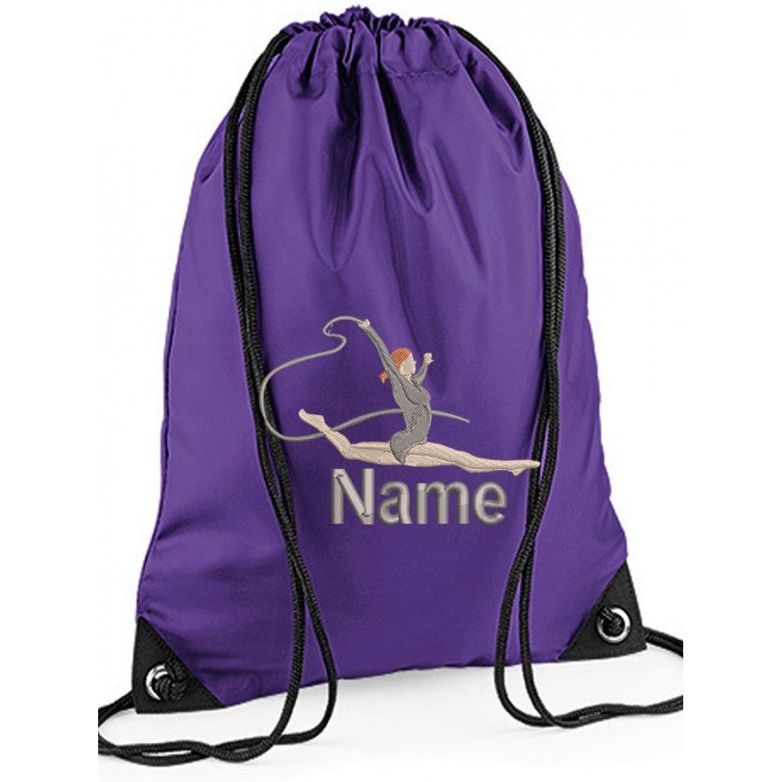 Personalised Embroidered Gymnastics Drawstring Gym Bag